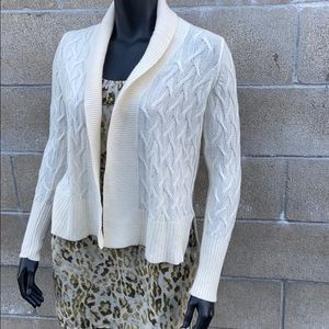 Loft cable weave cardigan NWT